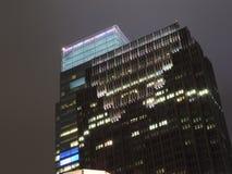 康卡斯特中心在晚上 免版税库存图片