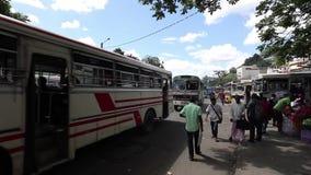 康提的汽车站在斯里兰卡 影视素材