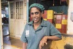 """康提,斯里兰卡†""""2017年2月13日, :女性妇女画象在斯里兰卡 免版税库存照片"""