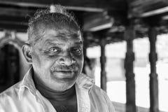 """康提,斯里兰卡†""""2017年2月13日:人画象从斯里兰卡的 免版税库存图片"""