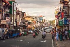 康提,斯里兰卡街道  免版税库存图片