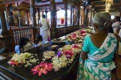 康提,斯里兰卡- 12月01 : 2016年:神圣的喇叭的寺庙 图库摄影