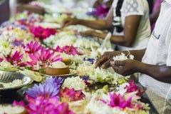 康提,斯里兰卡- 12月01 : 2016年:神圣的喇叭的寺庙 免版税库存图片