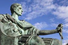 康斯坦丁伟大的雕象在约克 免版税库存照片