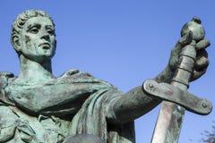 康斯坦丁伟大的雕象在约克 库存图片