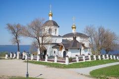 康斯坦丁和他的母亲海伦娜教会的看法,晴朗劳动节 Sviyazhsk,鞑靼斯坦共和国 免版税库存图片