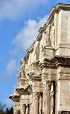 康斯坦丁曲拱在罗马的中心 免版税库存照片