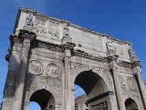 康斯坦丁曲拱,最大的凯旋门-罗马-意大利 图库摄影