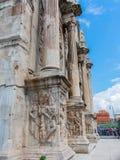 康斯坦丁曲拱,罗马,意大利侧向看法  图库摄影