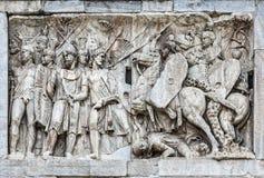 康斯坦丁曲拱建筑细节在罗马 库存照片