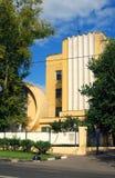 康斯坦丁梅尔尼科夫建筑学在莫斯科 Gosplan车库 免版税库存图片
