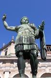 康斯坦丁皇帝雕象 库存图片