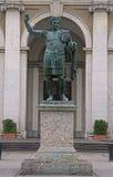 康斯坦丁雕象在米兰 库存图片