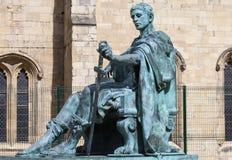 康斯坦丁雕象在约克 免版税图库摄影