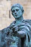 康斯坦丁雕象在约克 库存图片