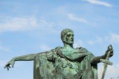 康斯坦丁雕象 库存照片