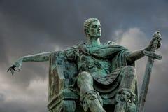 康斯坦丁雕象  免版税图库摄影