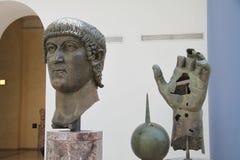 康斯坦丁雕象 免版税库存图片