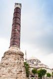 康斯坦丁,伊斯坦布尔,土耳其的专栏 免版税库存照片