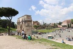 康斯坦丁,罗马曲拱  免版税库存图片