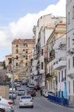 康斯坦丁,阿尔及利亚- 2017年3月7日:市的法国和西班牙殖民地边康斯坦丁,阿尔及利亚 现代城市有许多o 免版税库存照片
