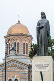 康斯坦察,罗马尼亚ï ¿ ½ 12月26日:卡门在cente附近的森林区雕象 库存图片