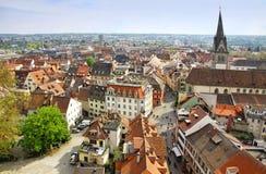 康斯坦茨市,德国鸟瞰图  库存图片