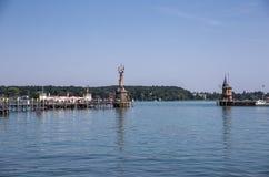 康斯坦茨,德国港口  免版税库存照片