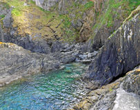 康沃尔岩石水池 免版税库存照片