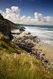 康沃尔的海岸 库存照片