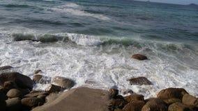 康沃尔郡海岸,海景在晴天 库存图片