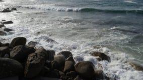 康沃尔郡海岸,海景在晴天 免版税库存图片