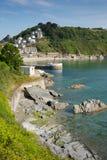 康沃尔郡海岸Looe港口英国 免版税库存照片