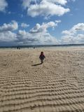 康沃尔郡海滩和海湾,英国 库存照片