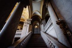 康涅狄格州立图书馆的内部,在哈特福德, Conn 库存图片