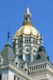 康涅狄格状态国会大厦,哈特福德, CT,美国 免版税库存图片