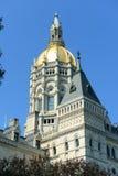 康涅狄格状态国会大厦,哈特福德, CT,美国 免版税图库摄影