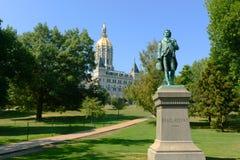 康涅狄格状态国会大厦,哈特福德, CT,美国 库存图片
