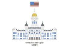 康涅狄格状态国会大厦,哈特福德 库存例证