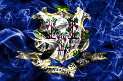 康涅狄格状态烟旗子,美利坚合众国 免版税库存图片