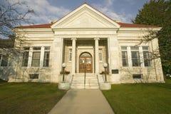 康涅狄格Litchfield小山的公立图书馆  库存图片