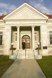 康涅狄格Litchfield小山的公立图书馆  免版税图库摄影