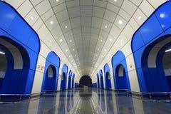 贝康诺地铁站乐团在阿尔玛蒂,哈萨克斯坦 免版税库存照片