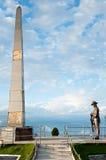 廓尔喀人在Batista循环的战士雕象 免版税库存图片