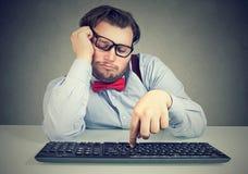 延迟懒惰大块的办公室工作者 库存图片