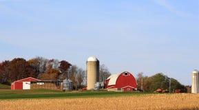 延迟秋天的农场 库存图片
