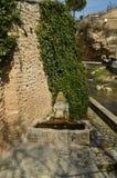 建于美妙的喷泉16世纪在特里略镇  建筑学,旅行,自然 免版税库存图片