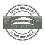 建房者邮票或标志 库存图片