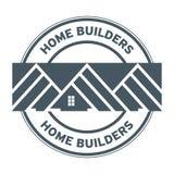 建房者邮票或标志 库存照片