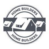 建房者邮票或标志 免版税库存图片